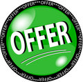 Green offer button Stock Photography