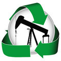Green Oil Icon Stock Images