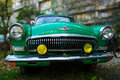 Green old-fashioned car Royalty Free Stock Image