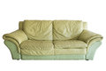 Green old sofa Royalty Free Stock Photo