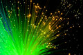 Green optic fibers Royalty Free Stock Photography