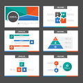 Green Orange Blue infographic element and icon presentation templates flat design set for brochure flyer leaflet website Royalty Free Stock Photo
