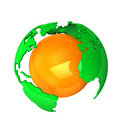Green Orange Earth Royalty Free Stock Photography