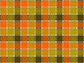 Green orange khaki check seamless background
