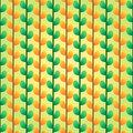 Green and orange leafs pattern