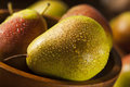 Green organic healthy pears ripe and ready to eat Royalty Free Stock Images