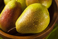 Green organic healthy pears ripe and ready to eat Stock Photos