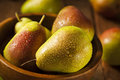 Green organic healthy pears ripe and ready to eat Stock Image