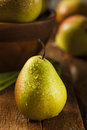 Green organic healthy pears ripe and ready to eat Stock Images