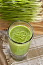 Green Organic Wheat Grass Shot Royalty Free Stock Photo