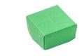Green Origami Box Over White B...