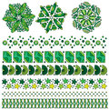 Green ornament and trim collection Royalty Free Stock Photo