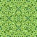 Green Ornamental Seamless Line Pattern.