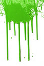 Green Paint Dripping Royalty Free Stock Photo