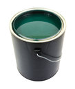 Green paint in gallon can Royalty Free Stock Photo