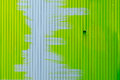 Green painting in wood wall Royalty Free Stock Photo