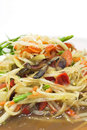 Green papaya salad close up Stock Image