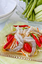 Green papaya salad  with rare shrimp Royalty Free Stock Image