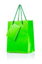 A green paper bag Royalty Free Stock Images
