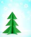 Green paper christmas tree Stock Photo