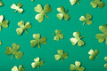 Green paper clovers Royalty Free Stock Photo