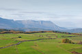 Green pastures and mountains on a spring morning basque country spain Royalty Free Stock Photo
