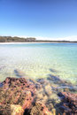 Green patch beach australia beautiful idyllic clear waters at jervis bay austrralia Stock Images