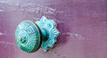 Green Patina: Antique Door Knob Royalty Free Stock Photo