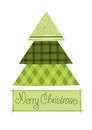 Green pattern christmas tree Stock Image