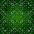 Green pattern seamless and black curves Royalty Free Stock Photography