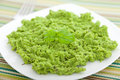 Green pea puree Royalty Free Stock Photo