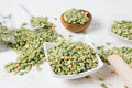 Green Pea Seeds Royalty Free Stock Photo