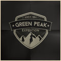 Green peak expedition badge editable eps vector Royalty Free Stock Images