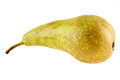 Green pear isolated on a white background Royalty Free Stock Photo