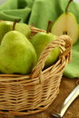 Green pears Stock Photo