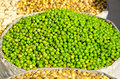 Green peas in asia market, India Stock Images
