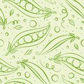 Green peas seamless pattern vector illustration Royalty Free Stock Images