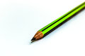 Green pencil on white background Royalty Free Stock Photos