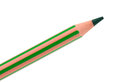 Green pencil on a white background Stock Photography
