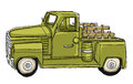 Green Pickup Truck Tin Metal Car Toy Royalty Free Stock Photo
