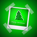 Green picture of merry christmas tree and new year Stock Photo
