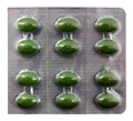 Green pills blister pack Royalty Free Stock Photos