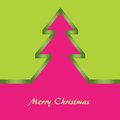 Green and pink Christmas card Stock Images