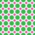 Green and Pink Polka Dots Stock Photography