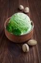 Green pistachio ice cream Royalty Free Stock Photo