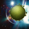 Green planet abstract environmental backgrounds for your design Stock Images