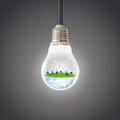 Green planet concept. Wind Turbine Clean Nature Ecology Environment. Royalty Free Stock Photo