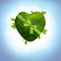 green planet heart shaped Royalty Free Stock Photo