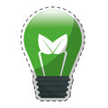 Green plant leaf bulb design