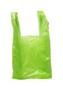 Green plastic bag picture of on white background Royalty Free Stock Photos